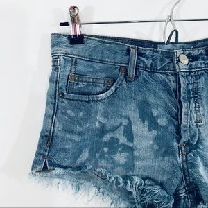 Free People Shorts - FREE PEOPLE Distressed and Frayed Denim Shorts